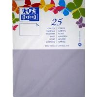 OXFORD 25 Cartes - 15 cm x 10 cm x 0,7 cm - 240g - Parme