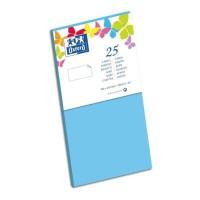OXFORD 25 Cartes - 21 cm x 10,6 cm x 0,7 cm - 240g - Bleu Lagon