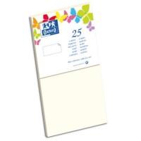 OXFORD 25 Cartes - 21 cm x 10,6 cm x 0,7 cm - 240g - Vanille