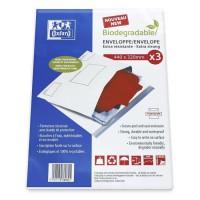 OXFORD 3 enveloppes-pochettes pour envoi bio-dégradables 44x32 cm