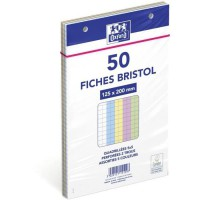 OXFORD Fiches Bristol perforées 125x200 - 5x5