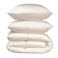 Pack linge de lit Microfibre - 1 Couette 240x260 cm + 2 Oreillers 60x60 cm blanc