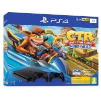 Pack PS4 1 To Noire + Crash Team Racing + 2eme manette DualShock 4 Noire V2