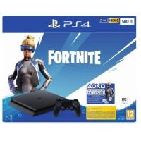 Pack PS4 Slim 500 Go Noire + Voucher Fortnite