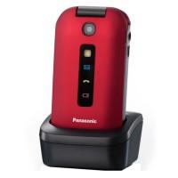 PANASONIC Téléphone mobile sénior - TU329EX - avec clapet - Rouge