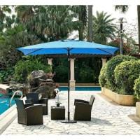 Parasol droit inclinable - Aluminium, 6 baleines en acier et polyester 160 g/m² - 3 x 2 m - Bleu profond