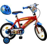 """PAT'PATROUILLE Vélo 14"""" + Casque - Enfant - Rouge et bleu"""