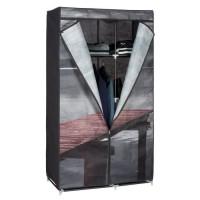 Penderie Armoire souple Lac - 6 compartiments - 88 x 45 x 160 cm