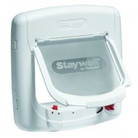 PETSAFE Porte Staywell magnétique Deluxe 4 positions - Blanc - Pour chat