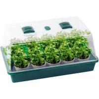 PLANETE PLANTE Ma petite Serre - Kit de jardinage - 15 pots et semences + 1 pelle + 1 pulvérisateur + marques plantes