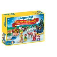 PLAYMOBIL 9009 - PLAYMOBIL 1.2.3 - Calendrier de l'Avent Pere Noël et animaux de la ferme
