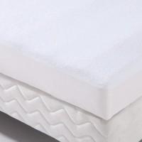 Protection literie housse imperméable Transalese éponge 100% coton 80x190 cm blanc