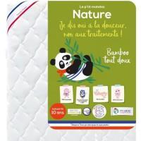 P'TIT ALBATROS Matelas Bamboo Nature - Bébé mixte - 70 x 140 cm