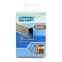 RAPID 3000 agrafes 90/20mm galvanisées