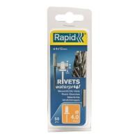 RAPID Rivets étanches 4x12mm en alu