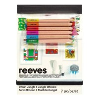REEVES Cartes Postales a colorier - Jungle Urbaine