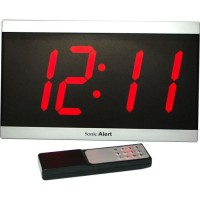 Réveil malentendant GEEMARC - BD4000SS Horloge LED - Grand affichage de la date, heure et température