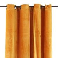Rideau velours en coton - Jaune - 150 x 250 cm