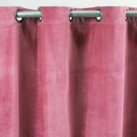 Rideau velours en coton - Prune - 150 x 250 cm