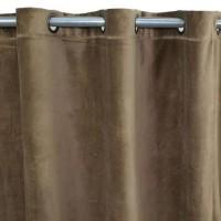 Rideau velours en coton - Taupe - 150 x 250 cm