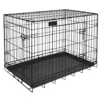 RIGA cage pliable chiens GM - L 91 x l 58 x H 66 cm - Grands chiens - Noir