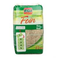 RIGA Foin compacté sécable en 2 - pour rongeurs - 2,3kg