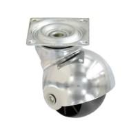 Roulette boule a platine pivotante - Ø 40 mm - Noir