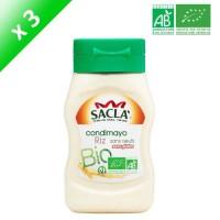 SACLA Condimayo de riz sans oeufs - Bio - 3x 290 ml