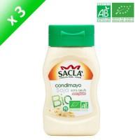 SACLA Condimayo de soja sans oeufs - 290 ml x3 - Bio