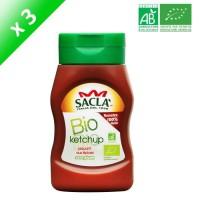 SACLA Ketchup piquant aux épices - 314 ml x3 - Bio