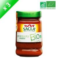 SACLA Sauce arrabbiata - 212 ml x3 - Bio