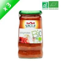 SACLA Sauce bolognaise - 370 ml x3 - Bio