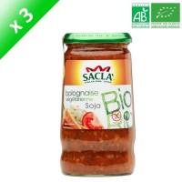 SACLA Sauce bolognaise végétarienne au soja - 370 ml x3 - Bio