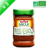 SACLA Sauce olives & tomates - 212 ml x3 - Bio