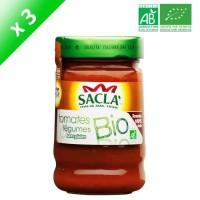 SACLA Sauce tomates et légumes - 212 ml x3 - Bio