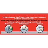 SADER Boite Ciment - Gris - 1kg