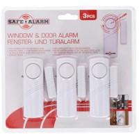 SAFE ALARM Lot de 3 détecteurs d'ouverture porte & fenetre