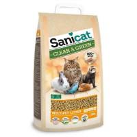 SANICAT Litiere Clean & Green Wood 20L - Pour chat