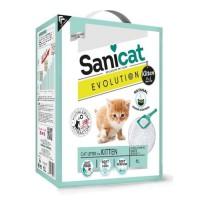 SANICAT Litiere Evolution Kitten 6L - Pour chaton