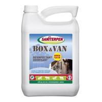 SANITERPEN Désinfectant concentré Box Van Odor - Pour environnement des chevaux et habitat - 5 L