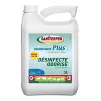 SANITERPEN Désinfectant odorisant concentré Plus - Pour les logements et matériels de transport des animaux domestiques - 5 L