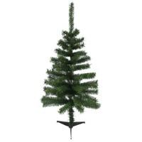 Sapin de Noël artificiel - 80 branches - Ø 50 x H 90 cm - Vert - Avec pied
