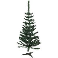 Sapin de Noël artificiel - H 120 cm - 150 branches - Vert colorado - Avec pied plastique