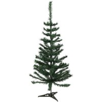 Sapin de Noël artificiel - H 150 cm - 200 branches - Vert colorado - Avec pied plastique