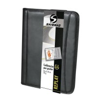 SAVEBAG Conférencier porte-tablette REPLAY format A4 - Spécial gaucher - Noir