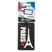 """SAVEBAG Porte-étiquette pour bagage """"Paris"""""""