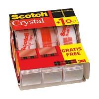 SCOTCH - Lot de 3 dévidoirs avec ruban Caddy Crystal - 2 + 1 gratuit