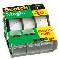 SCOTCH - Lot de 3 dévidoirs avec ruban Caddy Magic - 2 + 1 gratuit - 19 mm x 7,5 m