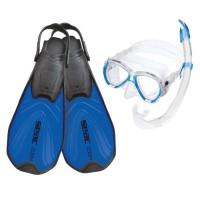 SEAC Kit de Snorkeling et plongée Zoom - Adulte - Bleu