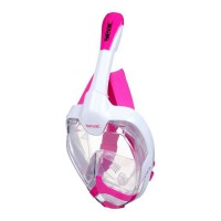 SEAC Masque de plongée intégral Unica - Taille S/M - Blanc et rose